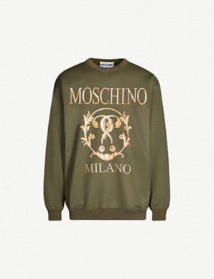 MOSCHINO Graphic-print jersey sweatshirt