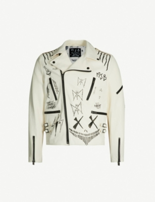 MJB - MARC JACQUES BURTON Distressed leather biker jacket