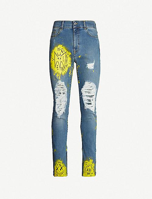 b68b93aecf4 MJB - MARC JACQUES BURTON Crixus painted slim-fit straight jeans