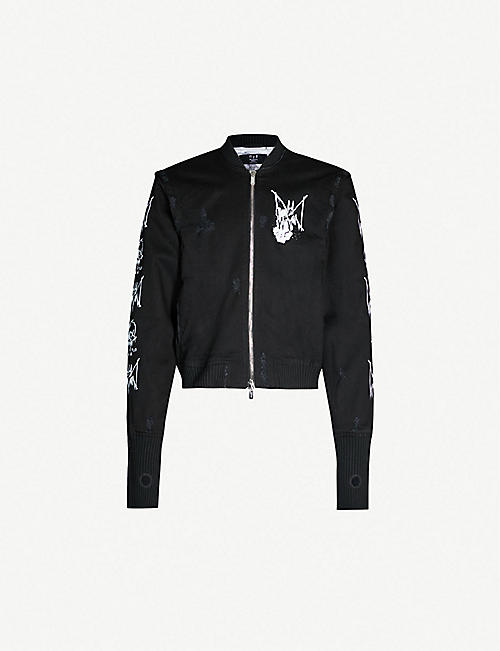 MJB - MARC JACQUES BURTON Graphic-print satin bomber jacket