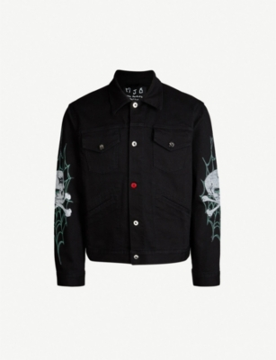 MJB - MARC JACQUES BURTON Skull and web-print denim jacket
