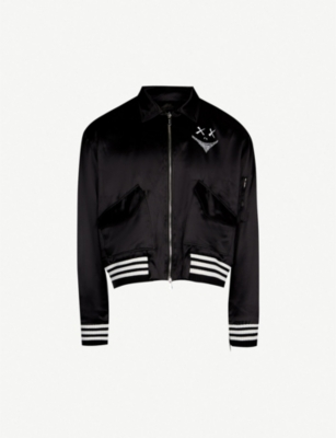 MJB - MARC JACQUES BURTON Face-print silk bomber jacket