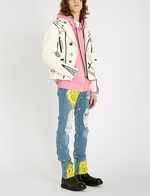 MJB - MARC JACQUES BURTON Painted cotton-blend hoody