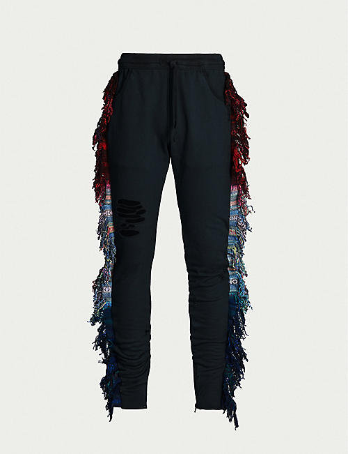 ALCHEMIST Liberty Rider fringed tapered cotton-jersey jogging-bottoms