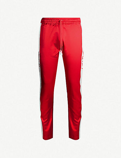 JUST DON Relaxed-fit satin jogging bottoms