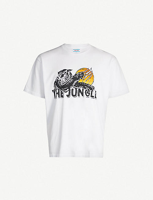 JUST DON Graphic-print cotton T-shirt