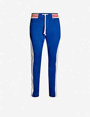 GREG LAUREN Colour-blocked sports-jersey jogging bottoms