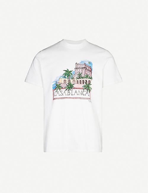 CASABLANCA City-print cotton-jersey T-shirt