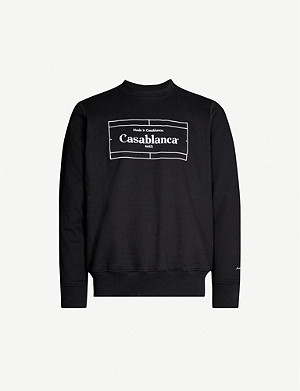 CASABLANCA Logo-embroidered cotton-jersey sweatshirt