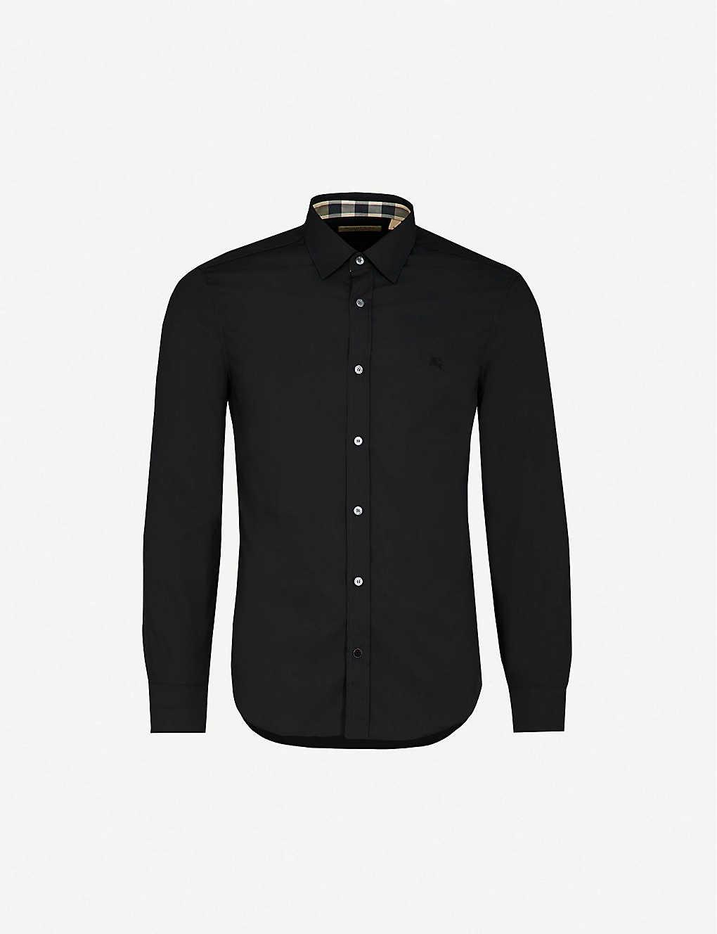 5de6b2b6 BURBERRY - Cambridge checked-detail regular-fit stretch-cotton shirt ...