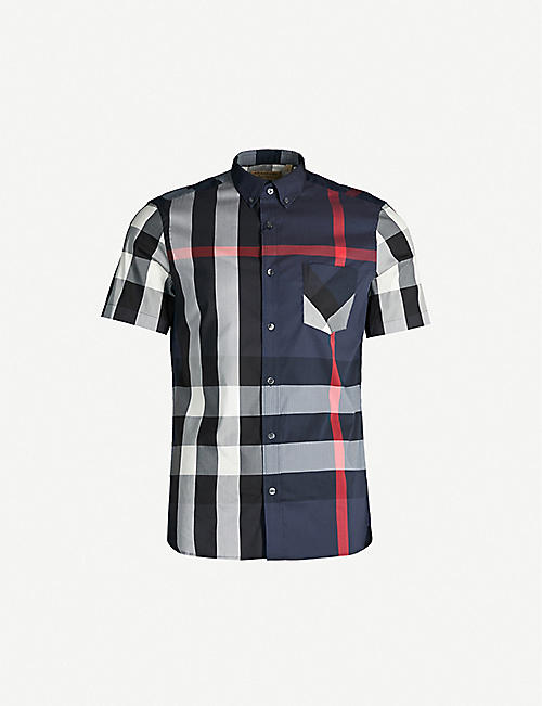 96032f899 BURBERRY Thornaby checked cotton and nylon-blend shirt