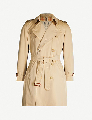 BURBERRY The Kensington check-lined cotton trench coat