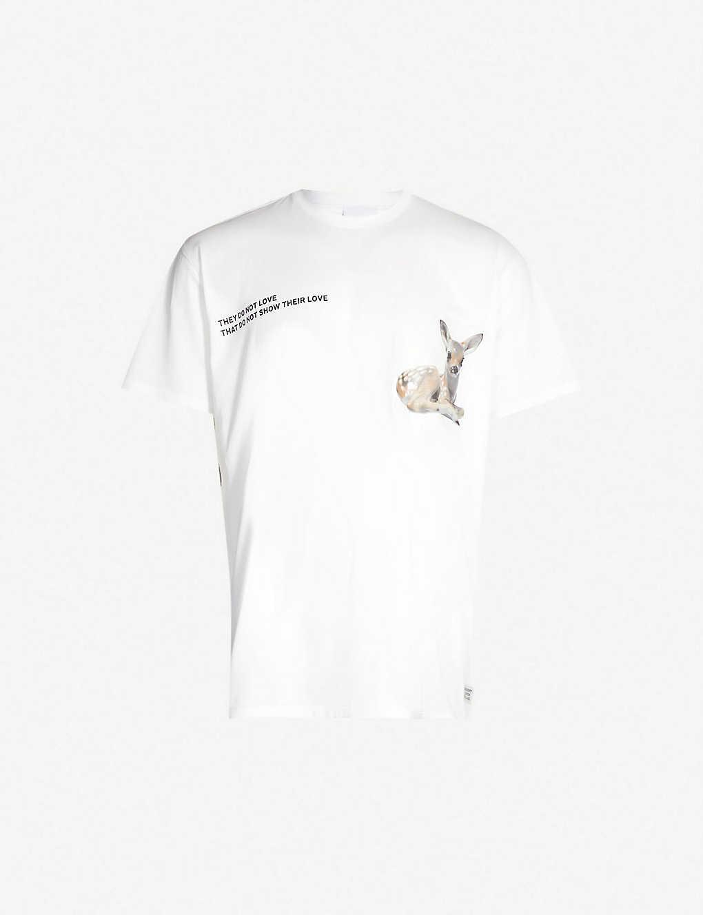 81b130bf6 BURBERRY - Deer-print cotton-jersey T-shirt | Selfridges.com