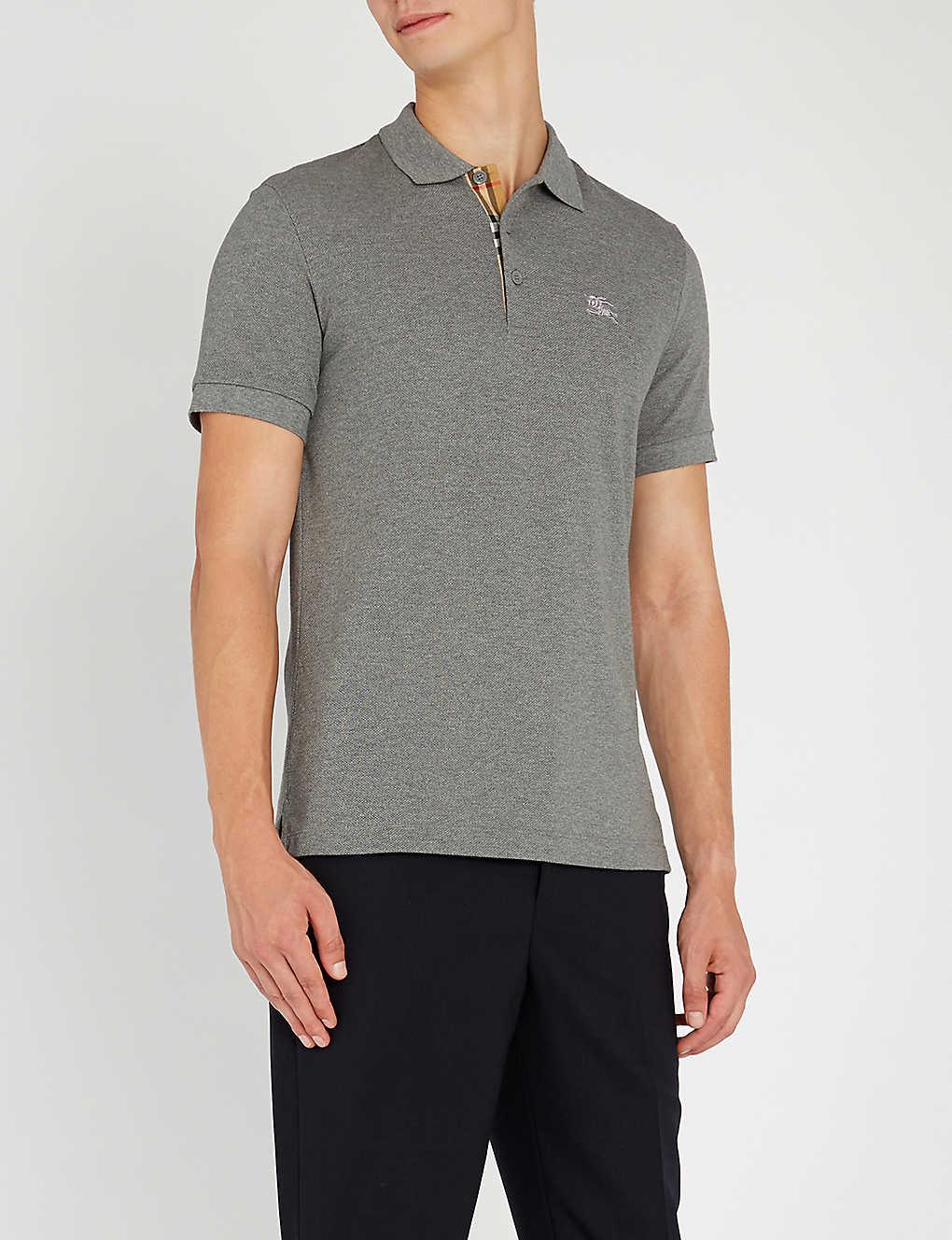 65e7cf61 BURBERRY - Hartford checked cotton-piqué polo shirt | Selfridges.com