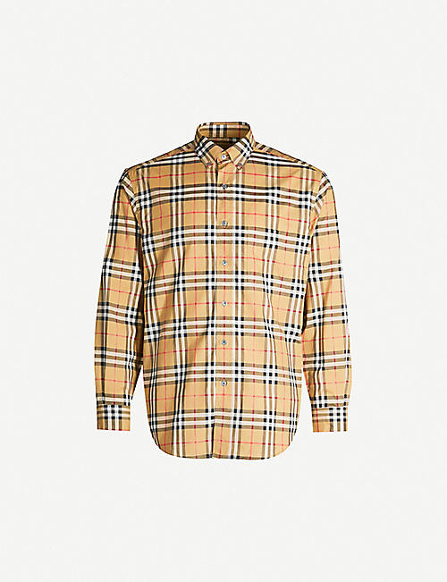 26a9bcc3 BURBERRY Jameson regular-fit cotton-poplin shirt