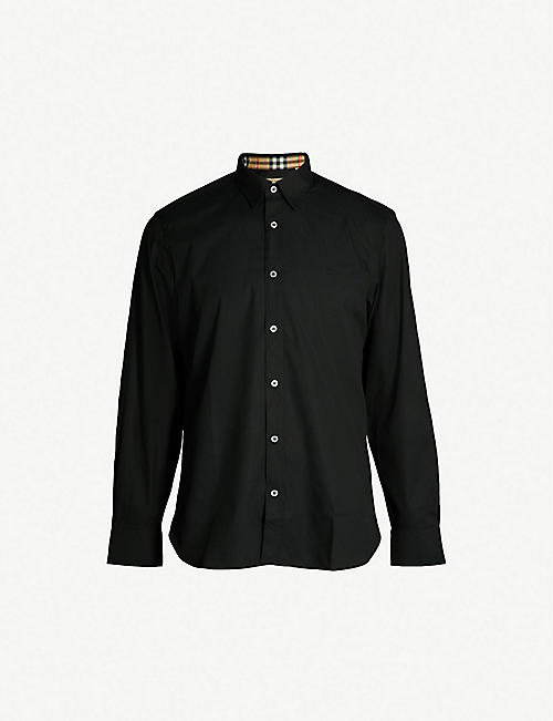 02f00e7118e3 BURBERRY Regular-fit stretch-cotton shirt