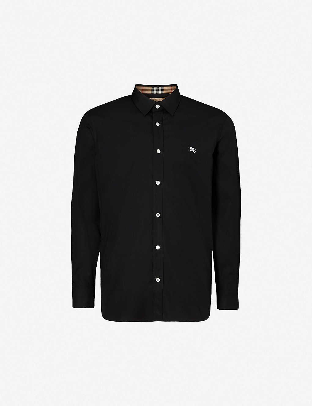 0b49bea4 BURBERRY - Regular-fit stretch-cotton shirt | Selfridges.com