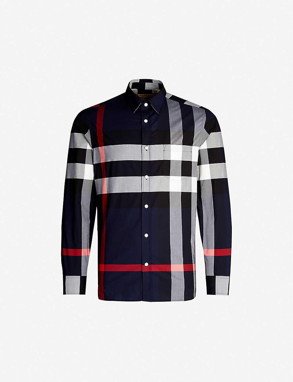 47eb5a78 BURBERRY - Windsor checked regular-fit cotton shirt | Selfridges.com