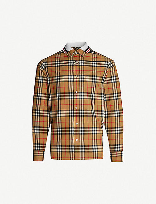8fd4cf4923c8 BURBERRY Edward regular-fit cotton shirt