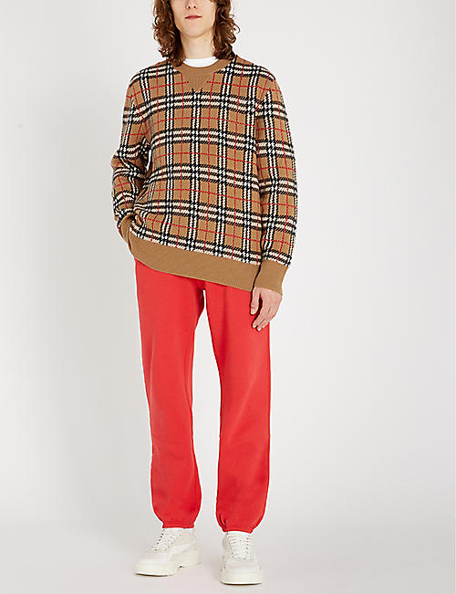 BURBERRY Banbury checked cashmere jumper