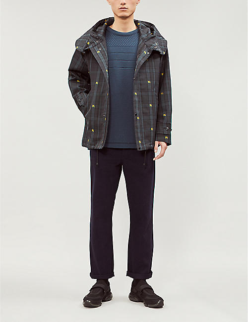 BURBERRY Bretherton checked hooded twill jacket