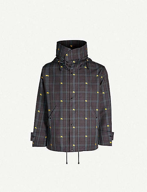c99c732f060 BURBERRY Bretherton checked hooded twill jacket