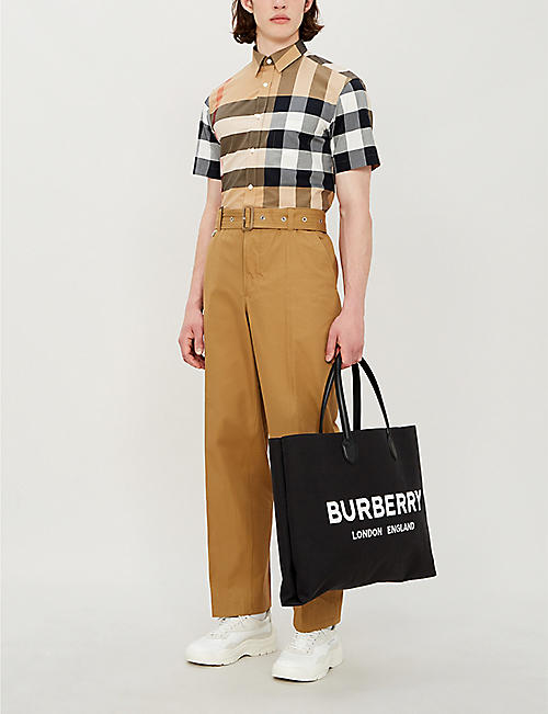 BURBERRY Windsor checked regular-fit cotton shirt
