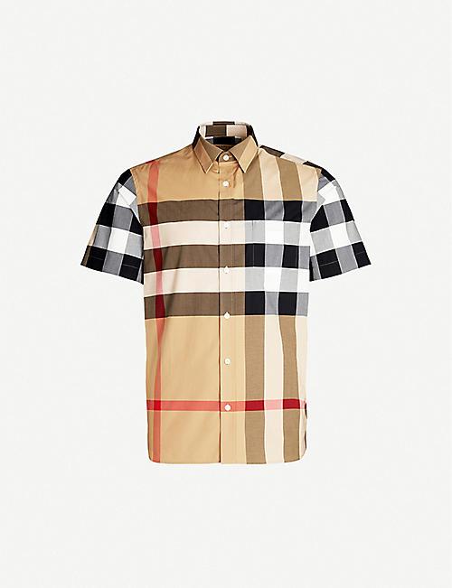 422921d19 BURBERRY Windsor checked regular-fit cotton shirt