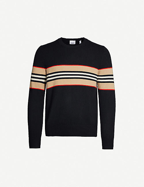 BURBERRY Striped cashmere jumper