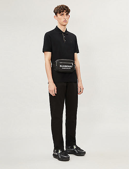 BURBERRY Eddie logo-embroidered cotton-piqué polo shirt