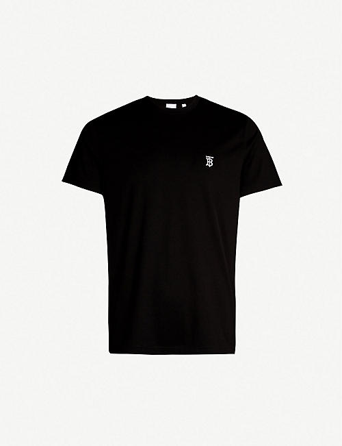 BURBERRY Logo-print stretch-cotton T-shirt