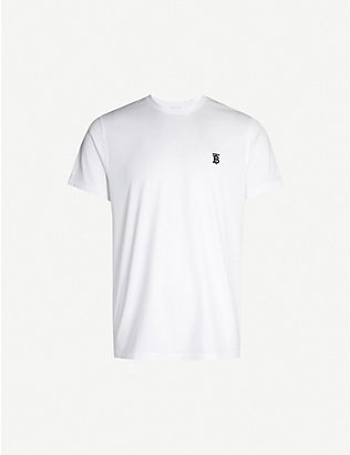 BURBERRY: Logo-print stretch-cotton T-shirt