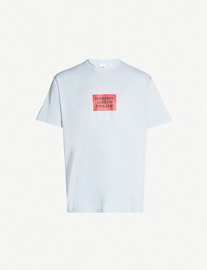 BURBERRY Box logo-print cotton-jersey T-shirt