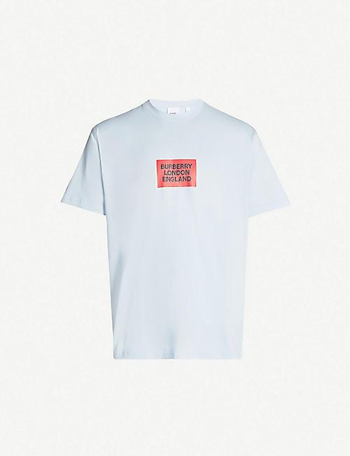 eae99bc33 BURBERRY Box logo-print cotton-jersey T-shirt