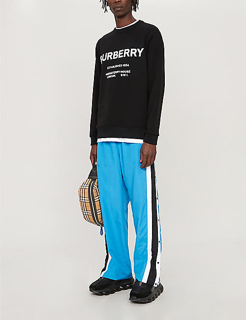 BURBERRY Horseferry logo-print cotton-jersey sweatshirt