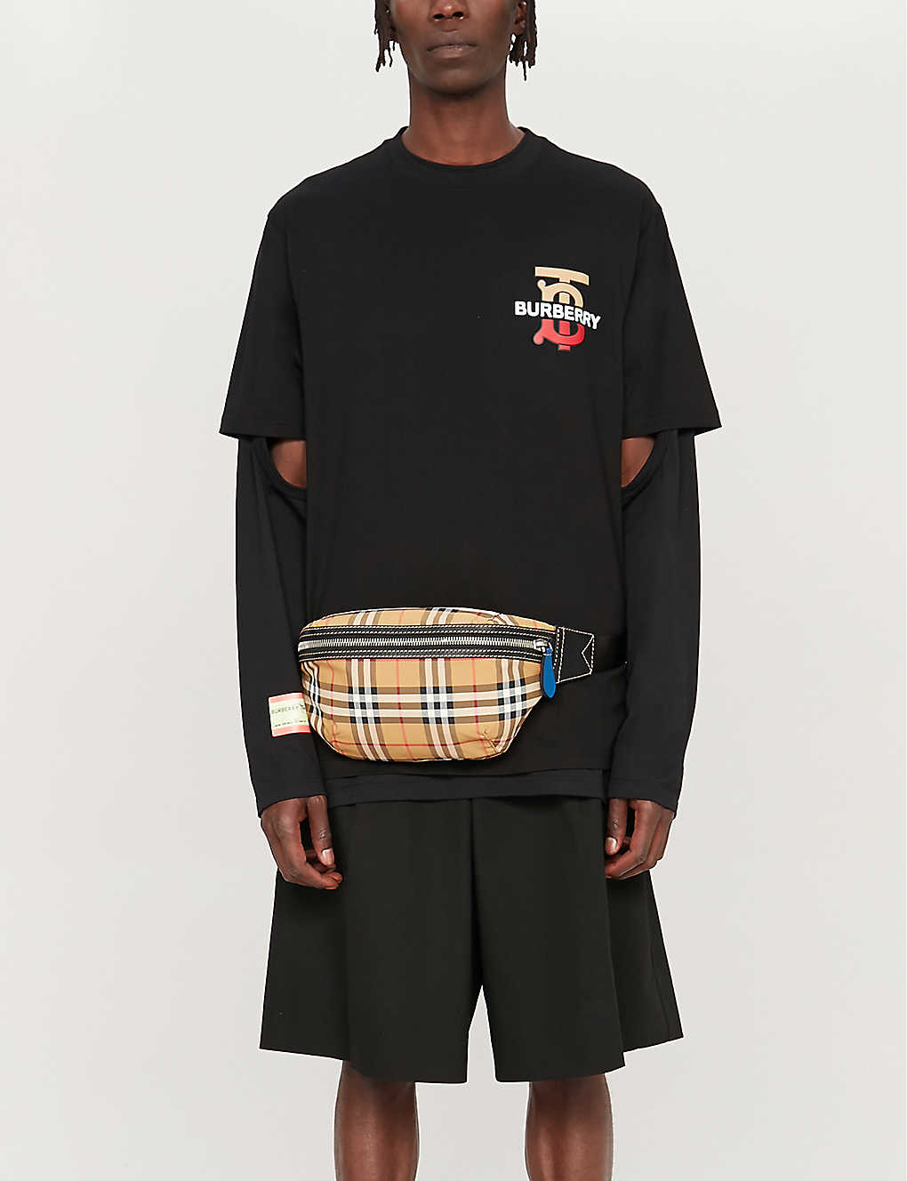 adea405b3 BURBERRY - Gately logo-print cotton-jersey T-shirt | Selfridges.com