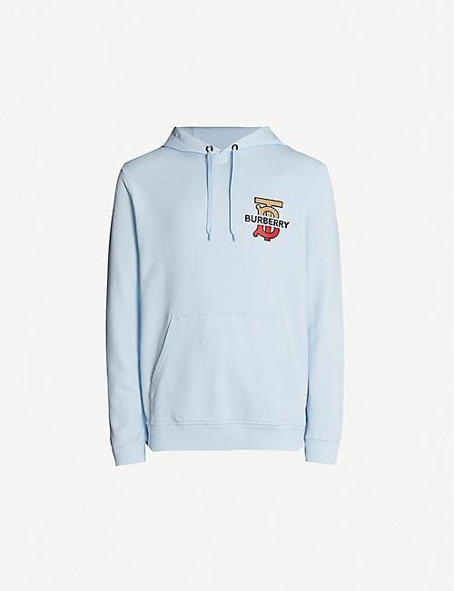 75809f385 BURBERRY Logo-print cotton-jersey hoody