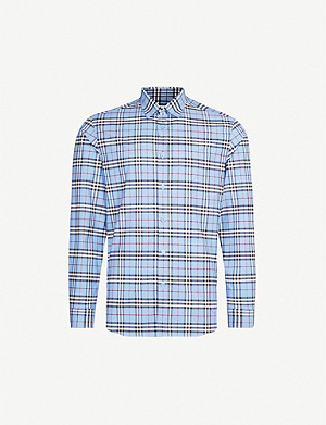 BURBERRY Simpson checked regular-fit stretch-cotton shirt