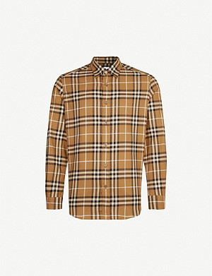BURBERRY Chambers regular-fit cotton-flannel shirt
