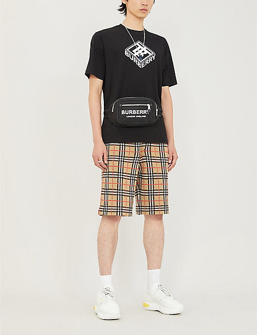 BURBERRY Checked wool shorts