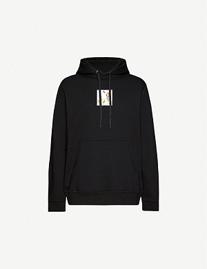 BURBERRY Deer-print cotton-jersey hoody