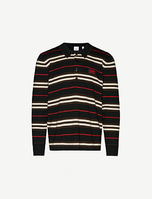 BURBERRY Rigby striped wool polo jumper