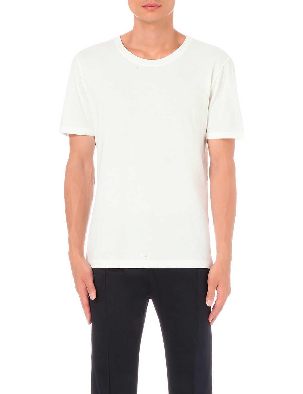 70d31091e GUCCI - Distressed cotton-jersey t-shirt | Selfridges.com