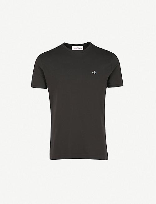 57f70b4f30 VIVIENNE WESTWOOD Logo-embroidered organic cotton-jersey T-shirt