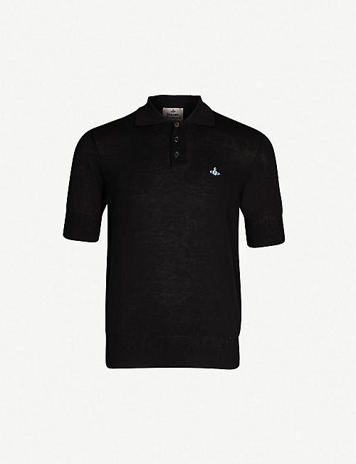 VIVIENNE WESTWOOD Logo-embroidered organic cotton-piqué polo shirt