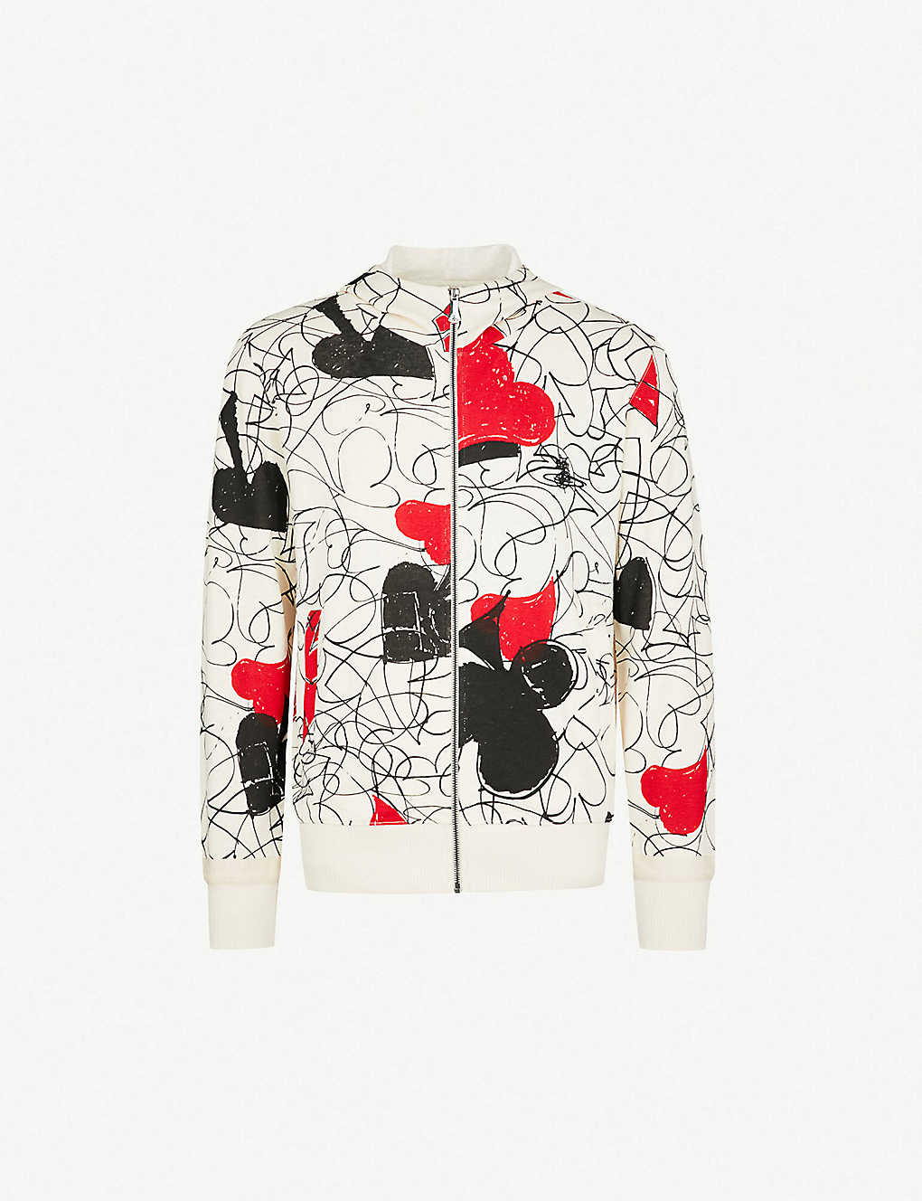 4f7d5e70 VIVIENNE WESTWOOD - House of Cards cotton and linen-blend hoody ...