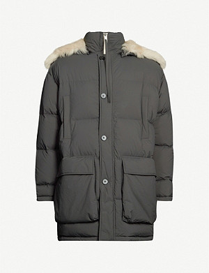 JIL SANDER Padded shell and down-blend coat