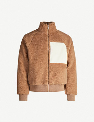 JIL SANDER Reversible shell and camel-and-wool blend jacket