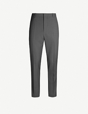 JIL SANDER Thynne slim-fit straight wool-blend trousers