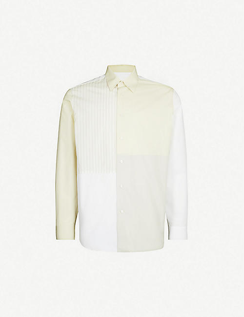 JIL SANDER Striped oversized cotton shirt